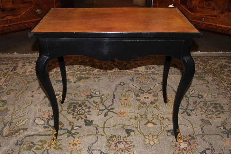18th Century Louis XV Black Lacquered Side Table 3