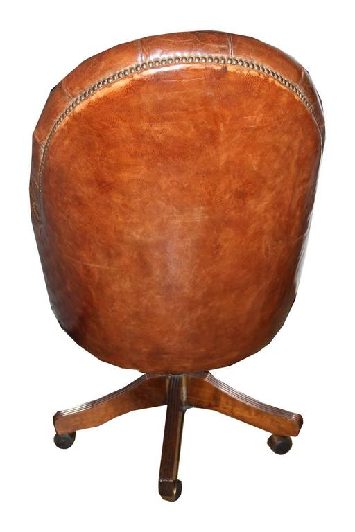 Classic English Tufted and Adjustable Swivel Desk Chair 4