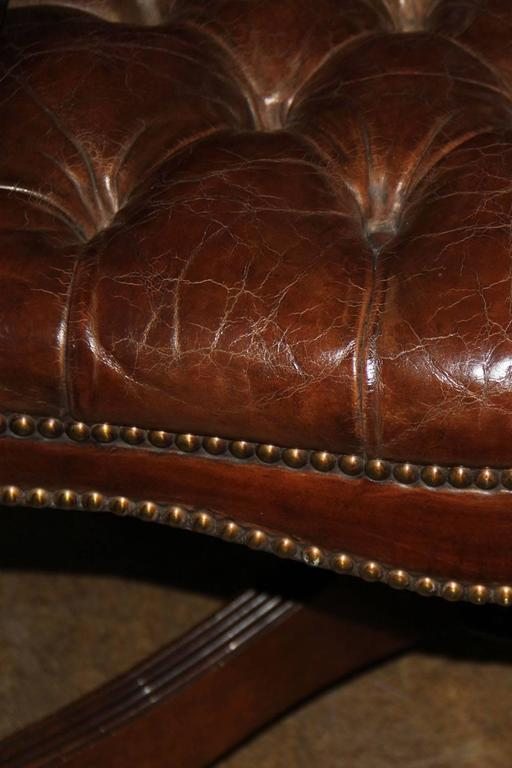 Classic English Tufted and Adjustable Swivel Desk Chair 5