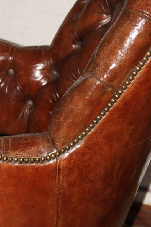 Classic English Tufted and Adjustable Swivel Desk Chair 8