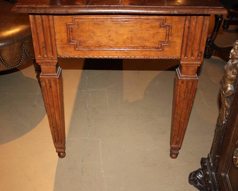 18th Century Italian Louis XVI Walnut Writing Desk 7