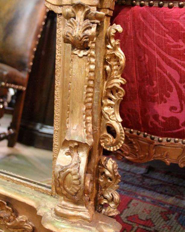 19th Century Italian Giltwood Mirror 2