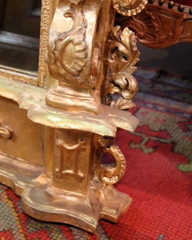 19th Century Italian Giltwood Mirror 3