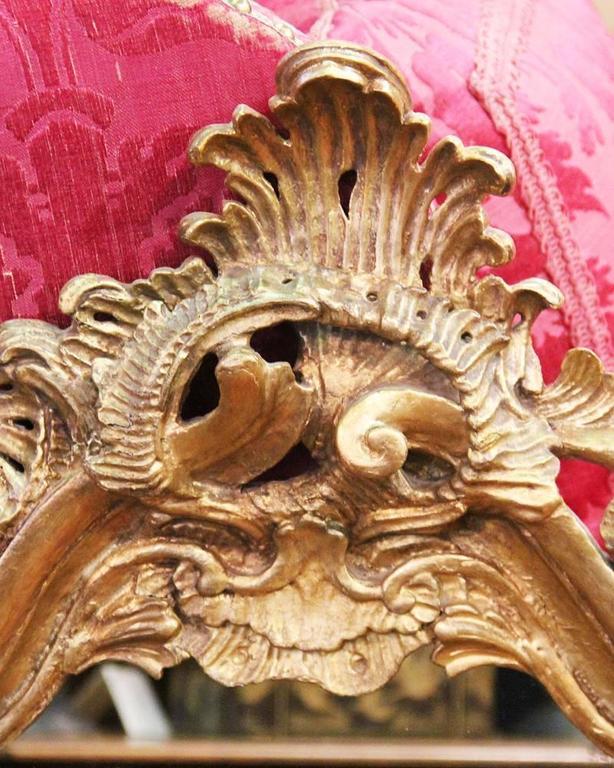 19th Century Italian Giltwood Mirror 8