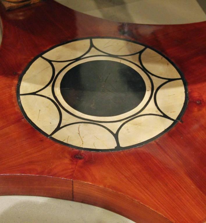 19th Century Italian Mahogany, Parcel-Gilt and Scagliola Center Table 6
