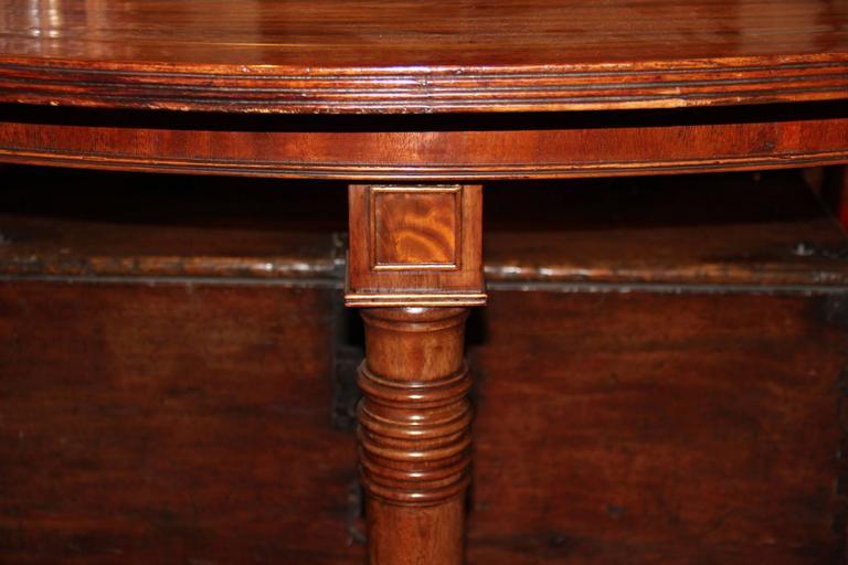 19th Century English Regency Semi-Circular Mahogany Hunt and Wine Display Table 2