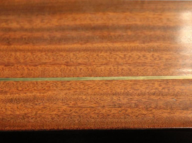 19th Century English Regency Semi-Circular Mahogany Hunt and Wine Display Table 4