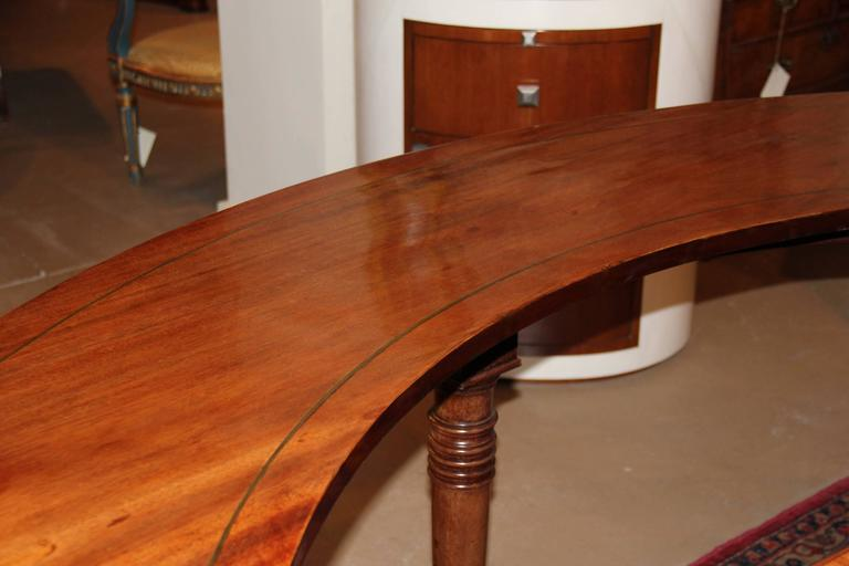19th Century English Regency Semi-Circular Mahogany Hunt and Wine Display Table 3