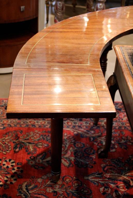 19th Century English Regency Semi-Circular Mahogany Hunt and Wine Display Table 5