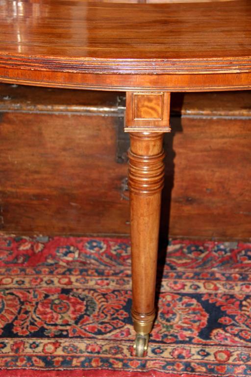 19th Century English Regency Semi-Circular Mahogany Hunt and Wine Display Table 6