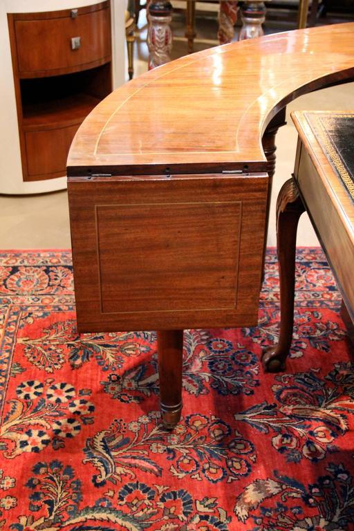 19th Century English Regency Semi-Circular Mahogany Hunt and Wine Display Table 8
