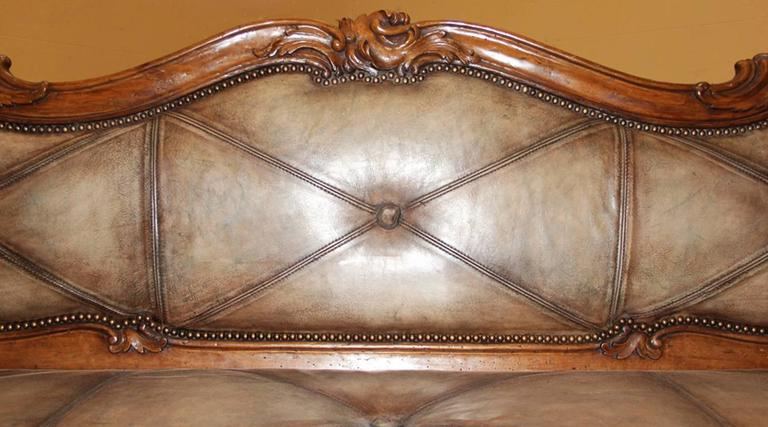 18th Century Italian Walnut Canape 6
