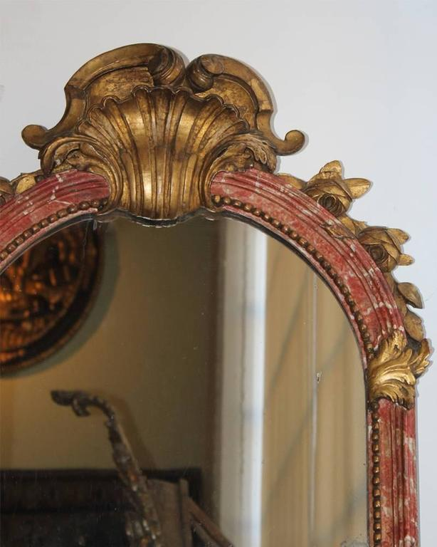 18th Century Italian Polychrome and Parcel-Gilt Mirror 4