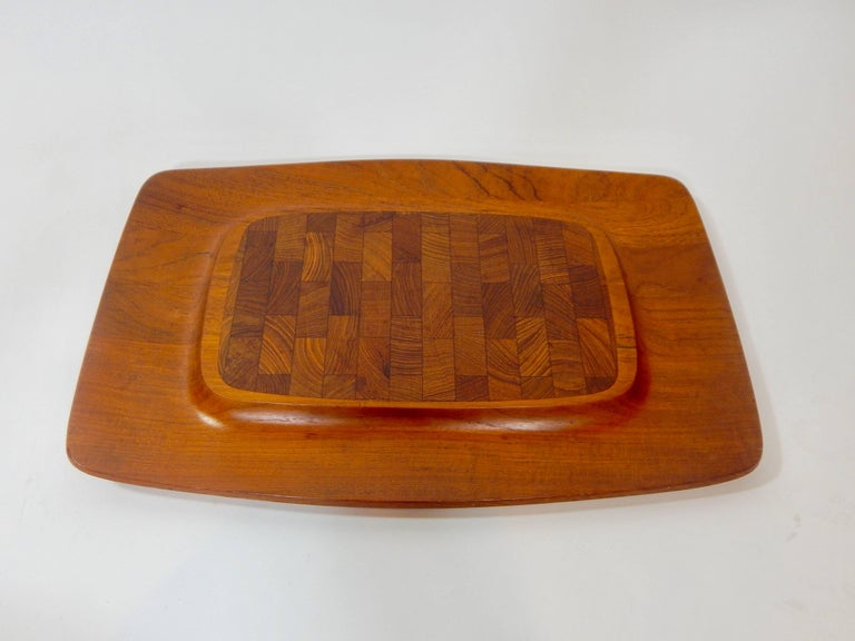 Midcentury teak serving tray designed by Jens Quistgaard / JHQ for Dansk. Perfect for Charcuterie. Markings on bottom.