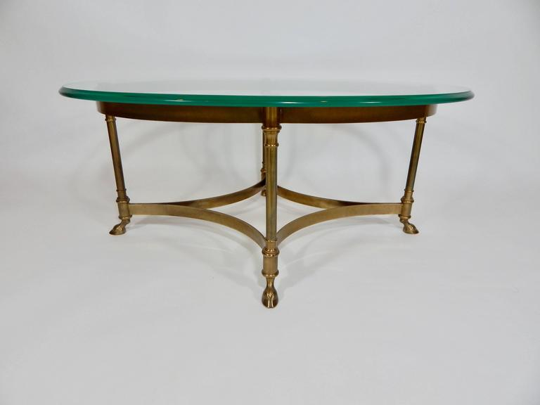 MidCentury Weiman Brass and Glass Coffee Table For Sale at 1stdibs