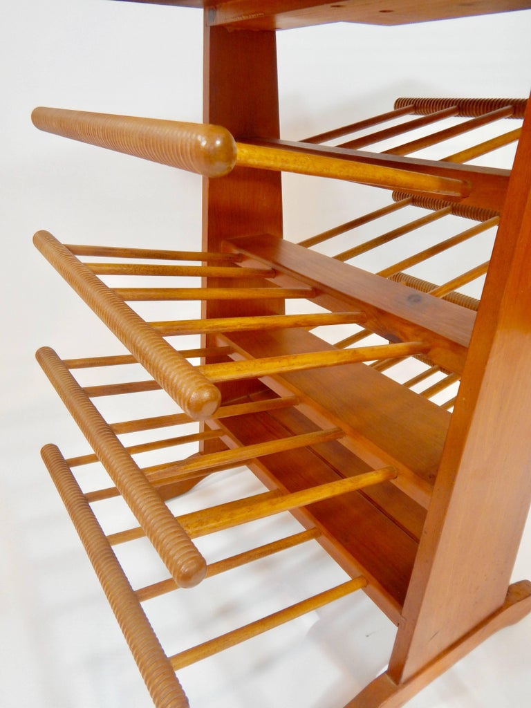 20th Century Magazine Stand Rack Table For Sale