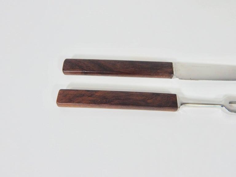 Georg Jensen Denmark Rosewood Carving Set For Sale At 1stdibs