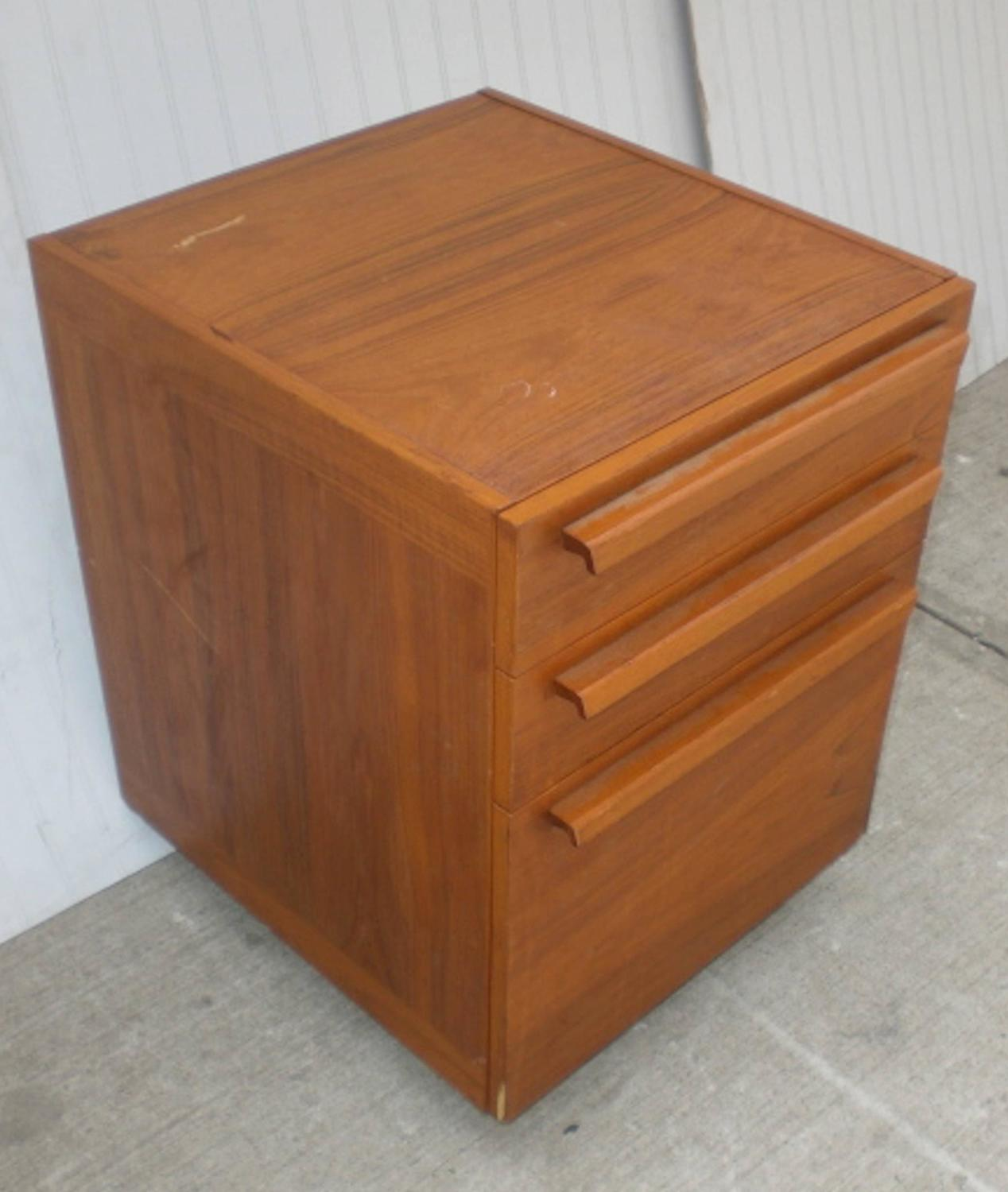 Marvelous photograph of Teak File Cabinet on Wheels For Sale at 1stdibs with #804929 color and 1268x1500 pixels
