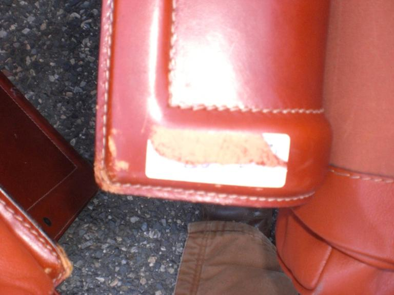 Leather Mid-Century Modern Club Chairs For Sale 2