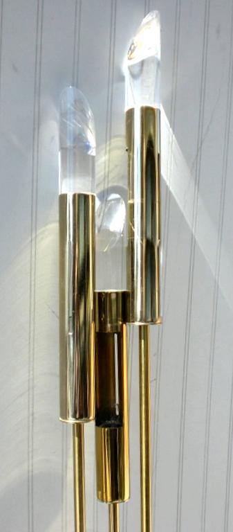 unique floor lamp with lucite prisms for sale at 1stdibs. Black Bedroom Furniture Sets. Home Design Ideas
