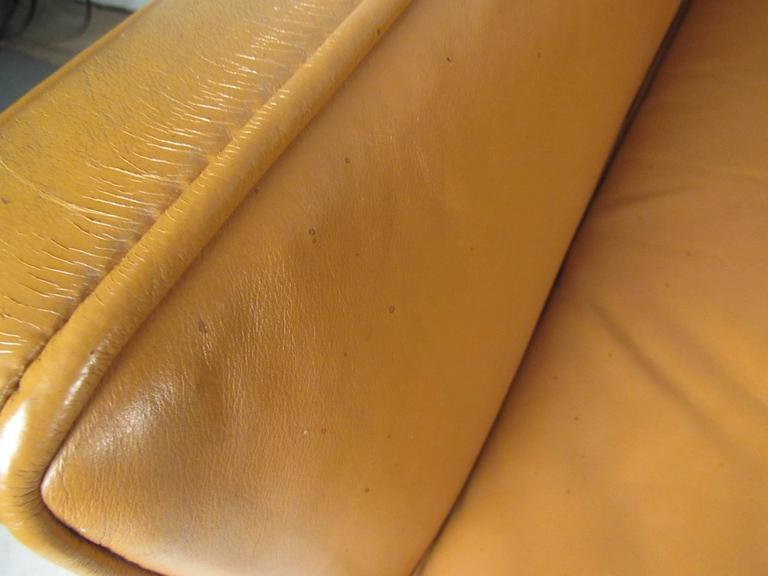 Mid-20th Century Scandinavian Modern Leather Sofa after Børge Mogensen For Sale