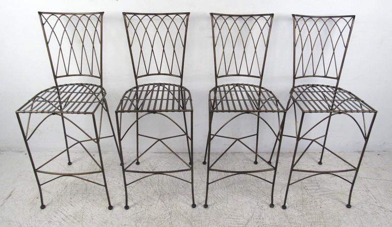 20th Century Set of Four Modern Bar Stools For Sale