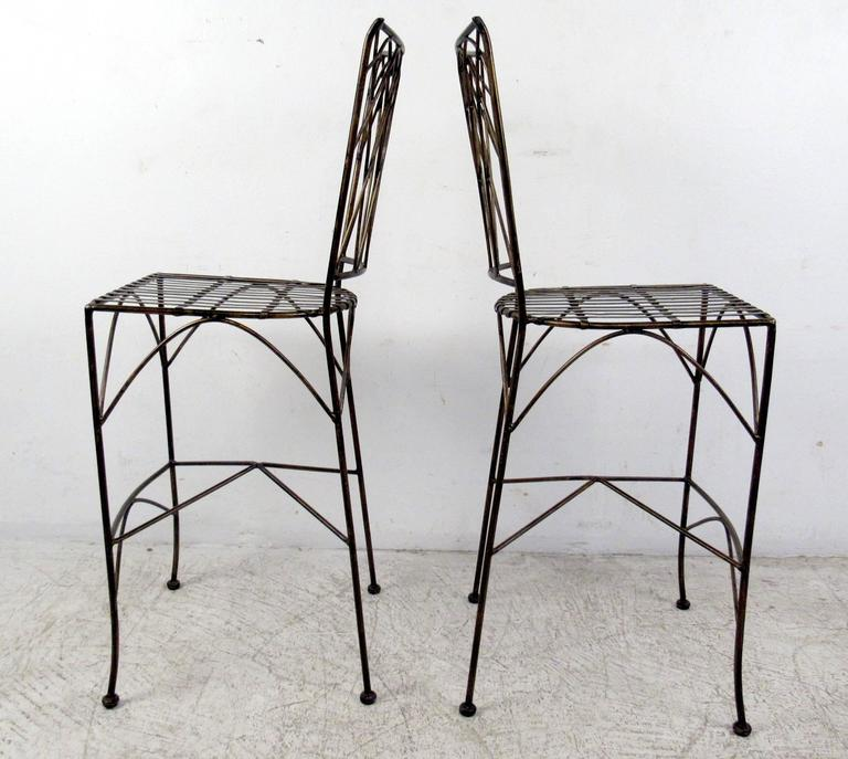 Set of Four Modern Bar Stools For Sale 1