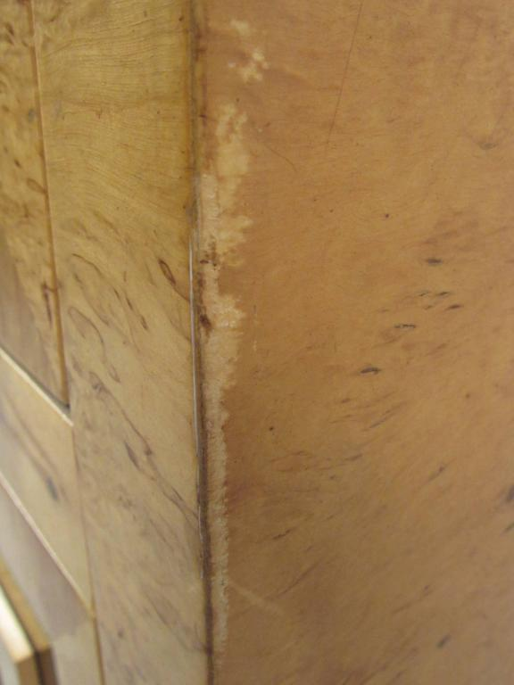Tall Mid-Century Burl Armoire by Romweber For Sale 4