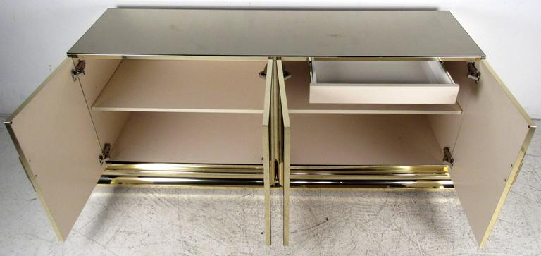 Mid-Century Modern Stylish Mirrored Sideboard by Ello Furniture For Sale