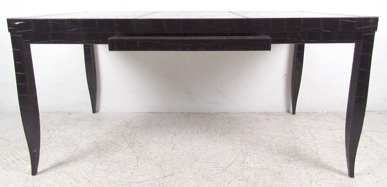 Vintage Modern Desk Designed By Giorgio Armani For Casa Featuring One Drawer And Faux