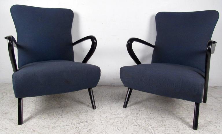 Mid-Century Modern Pair Italian Modern Paolo Buffa Style Armchairs  For Sale