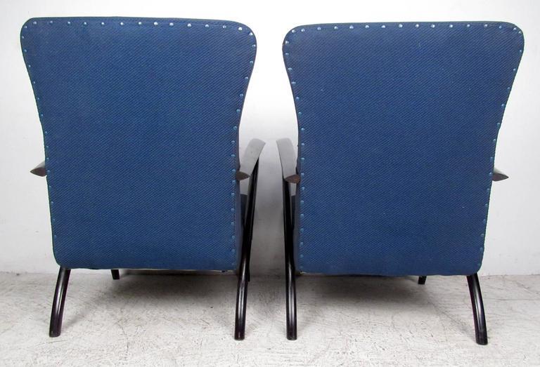 Mid-20th Century Pair Italian Modern Paolo Buffa Style Armchairs  For Sale