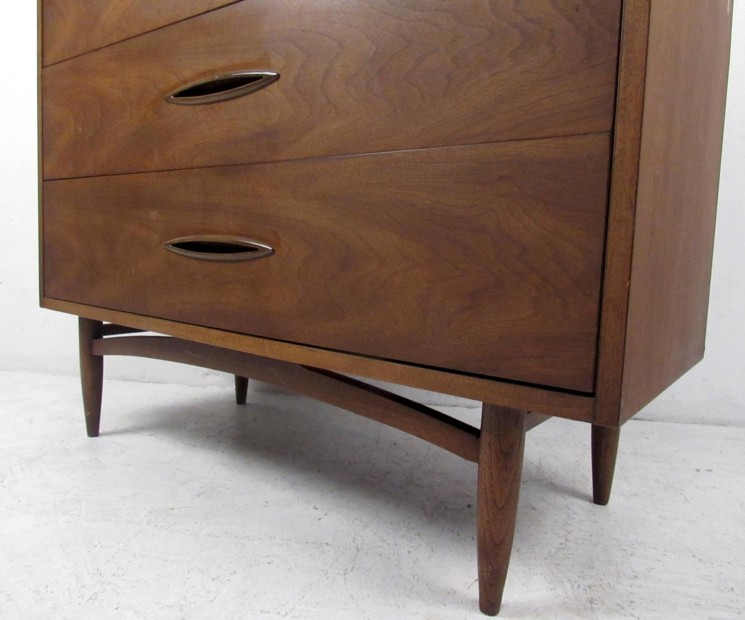 mid century sculptra highboy dresser by broyhill for sale at 1stdibs
