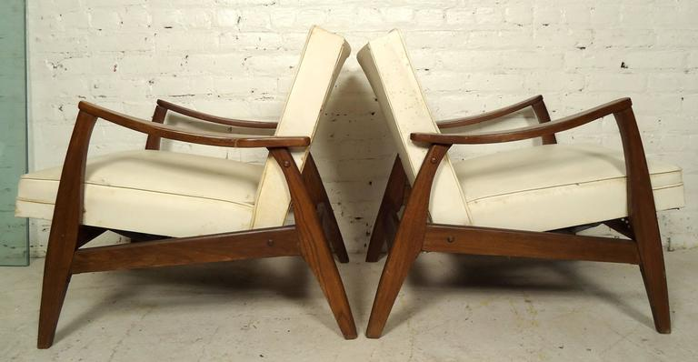 Pair of mid century walnut armchairs at 1stdibs for Furniture 08054
