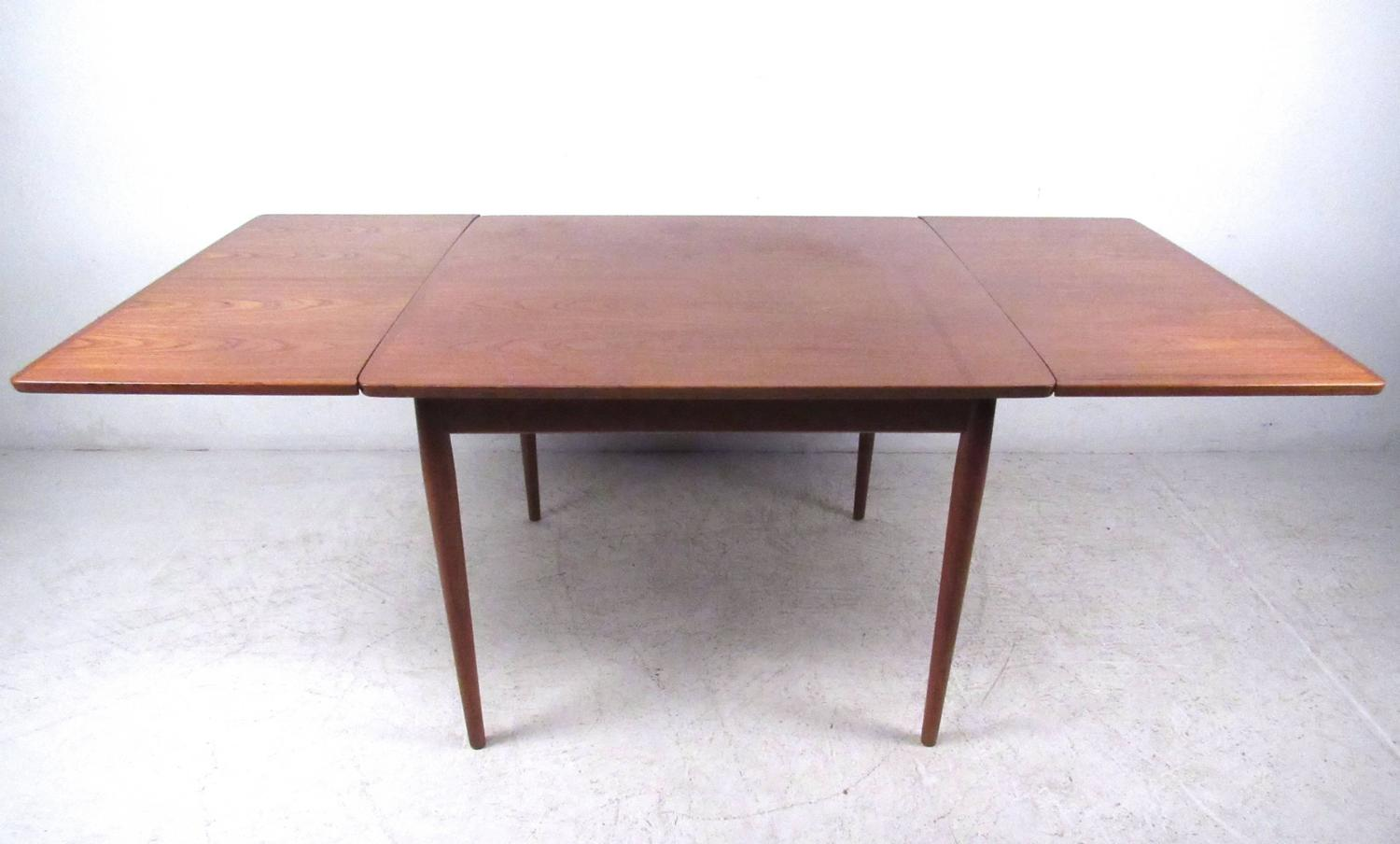 mid century modern danish teak drawleaf dining set for sale at 1stdibs