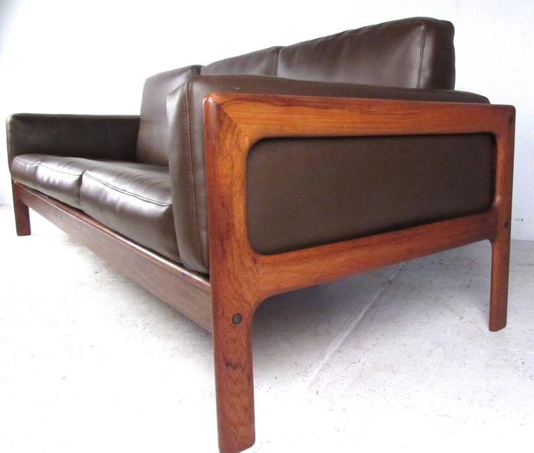 Mid-Century Modern Mid-Century Rosewood Sofa by Komfort For Sale