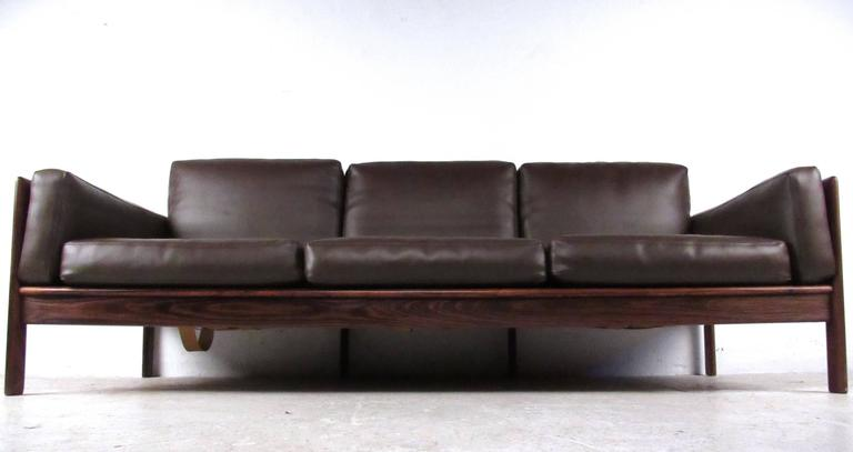 Danish Mid-Century Rosewood Sofa by Komfort For Sale