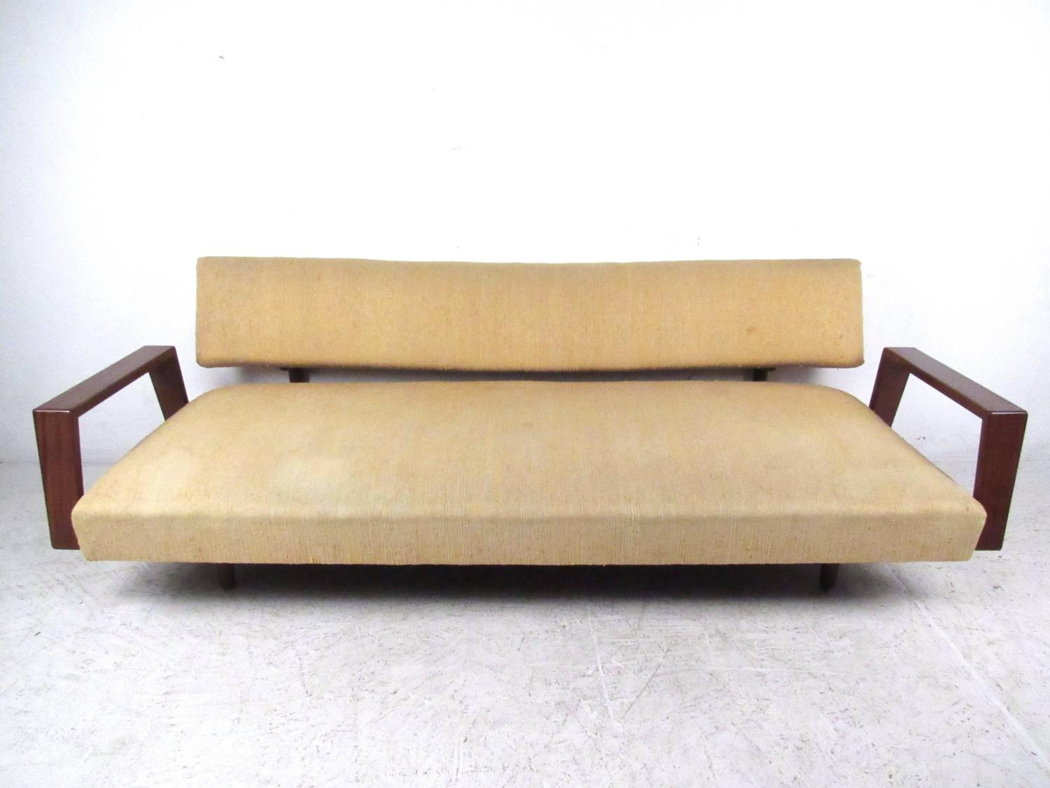Stylish Mid Century Modern Sofa Daybed In The Style Of