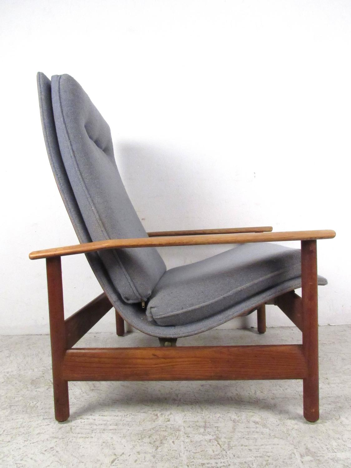 Unique Mid Century Danish Style Lounge Chair With Ottoman At 1stdibs