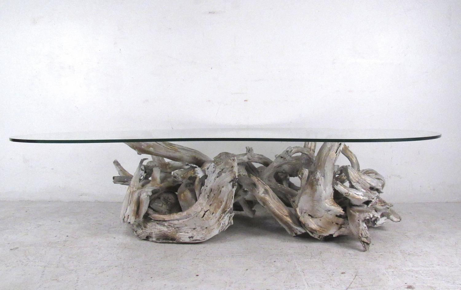 Unique Set of Free-Form Vintage Driftwood Tables For Sale at 1stdibs