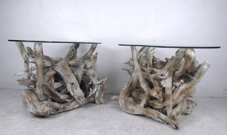 Unique Set of Free Form Vintage Driftwood Tables For Sale