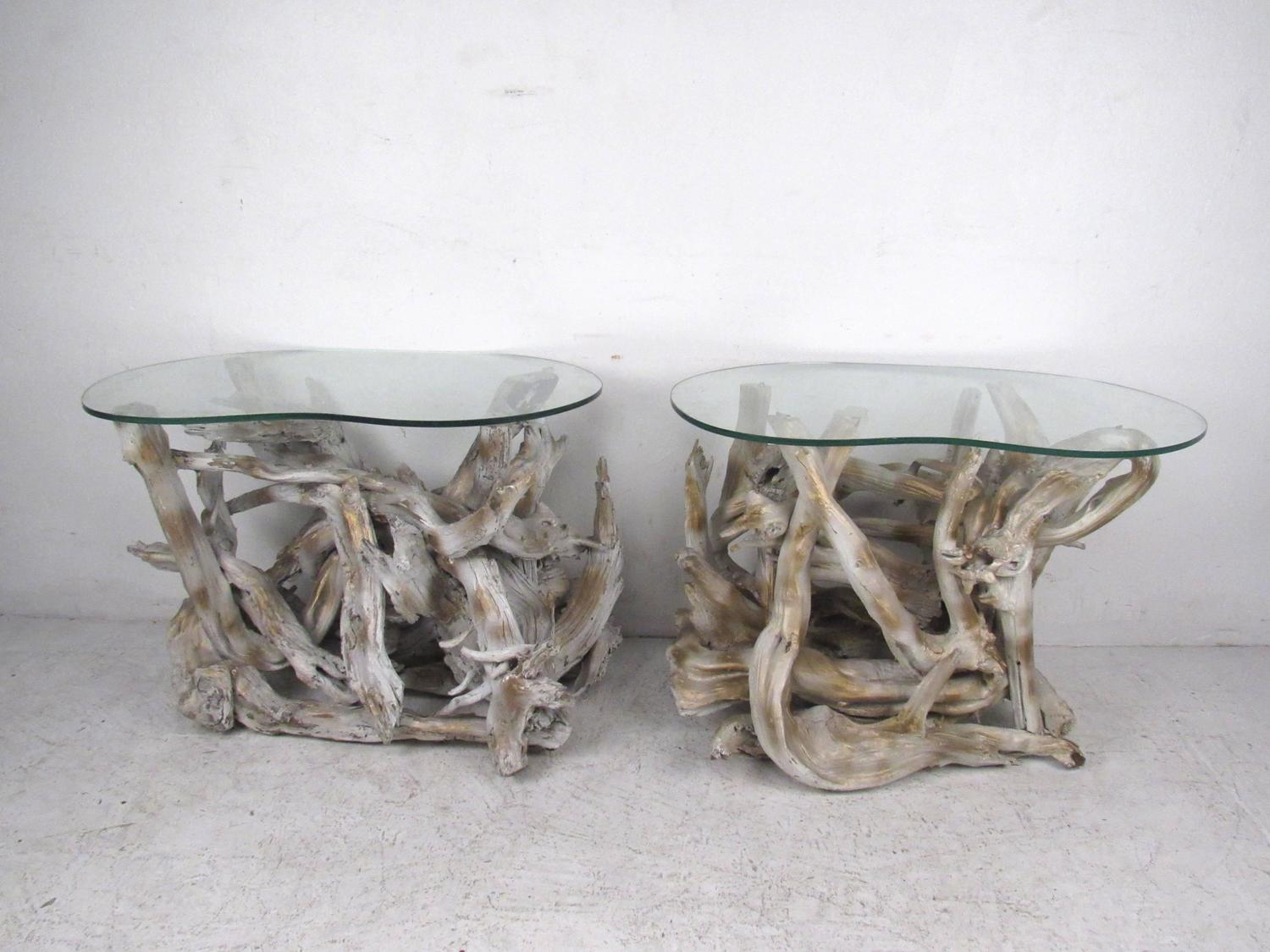Unique Set Of Free Form Vintage Driftwood Tables For Sale At 1stdibs