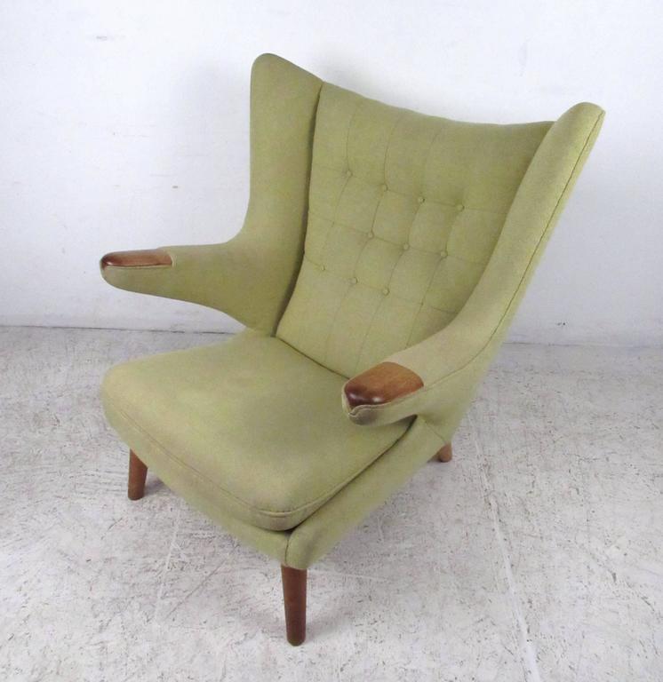 Swell Mid Century Papa Bear Chair By Hans J Wegner Ibusinesslaw Wood Chair Design Ideas Ibusinesslaworg