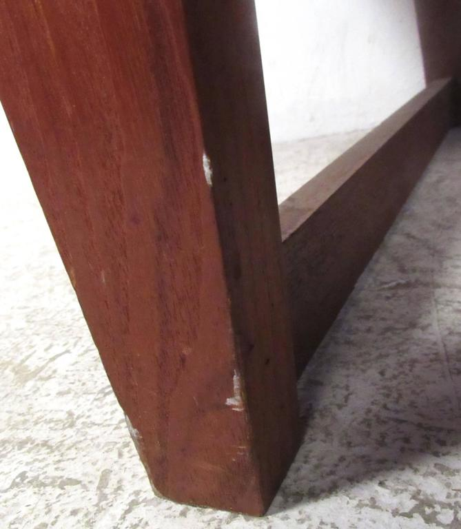 Unique Mid-Century Modern Danish Teak Sled Leg Desk For Sale 3