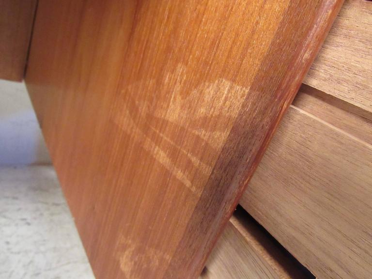 Scandinavian Teak Sled Leg Desk For Sale 2