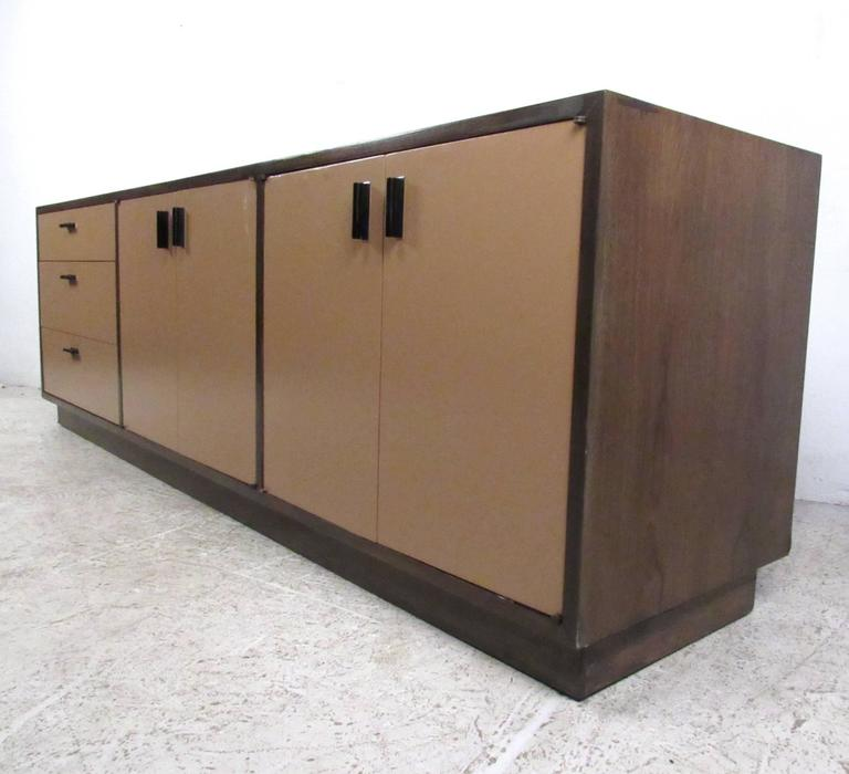 Mid-Century Modern Vintage Office Credenza by Founders For Sale