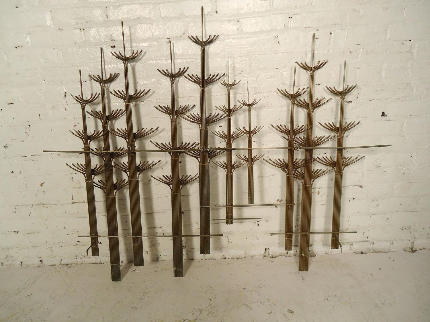 Mid-Century Metal Wall Art By C Jere For Sale At 1stdibs