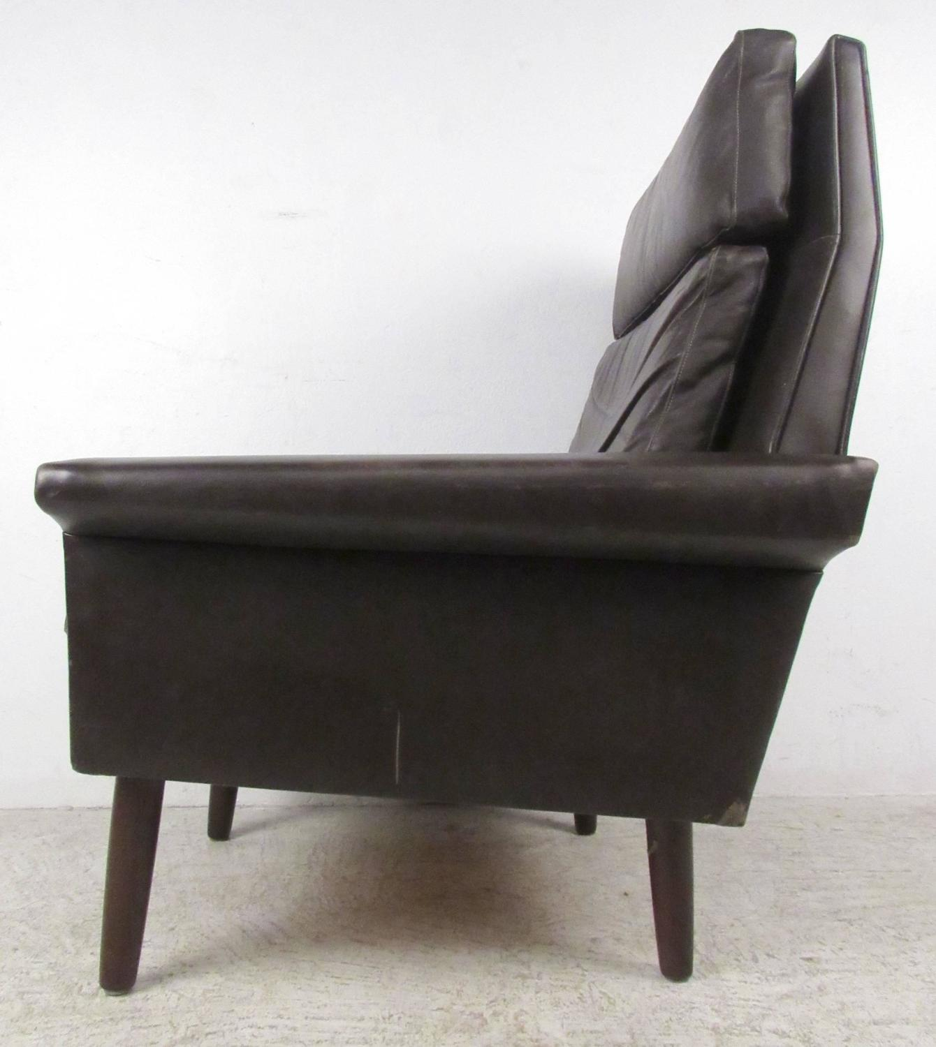 Mid Century Danish Leather Lounge Chair For Sale At 1stdibs