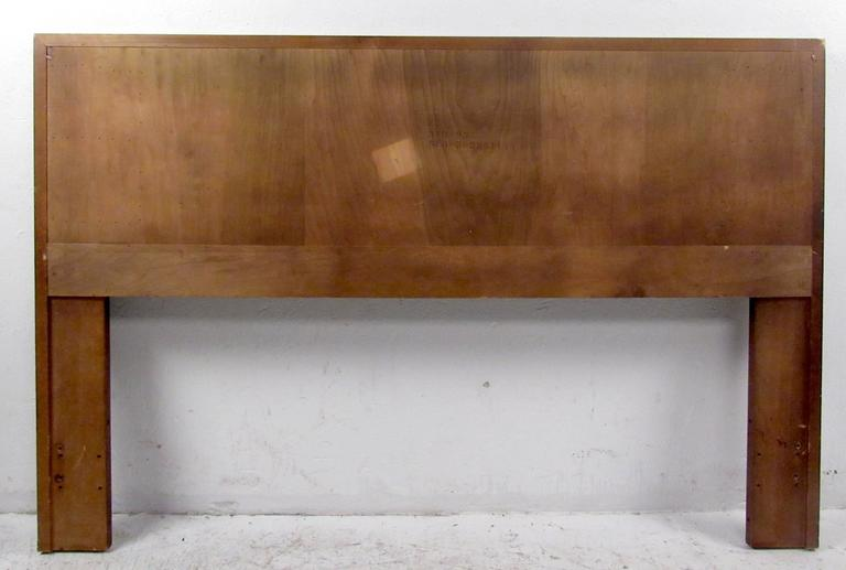 Vintage modern walnut headboard designed in the manner of Lane.  Please confirm item location NY or NJ with dealer.