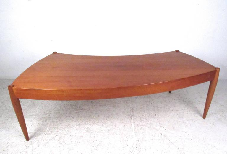 Mid-Century Modern Johannes Andersen Curved Edge Cocktail Table for Trensum For Sale